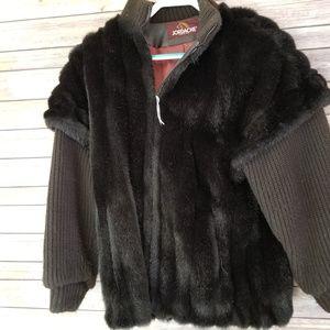 Vintage Jordache Faux Fur Sweater Cable Knit Sz M